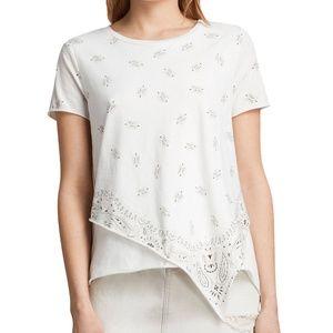 AllSaints Bandana Daisy T-Shirt Chalk White